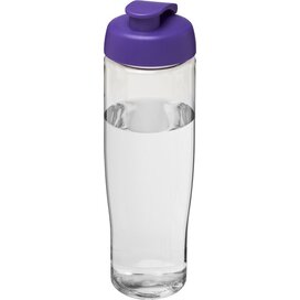 H2O Tempo® 700 ml sportfles met flipcapdeksel Transparant,Paars