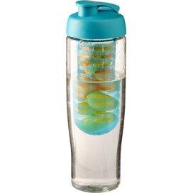 H2O Tempo® 700 ml sportfles en infuser met flipcapdeksel Transparant,aqua blauw
