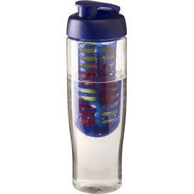 H2O Tempo® 700 ml sportfles en infuser met flipcapdeksel Transparant,blauw