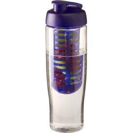 H2O Tempo® 700 ml sportfles en infuser met flipcapdeksel Transparant,Paars