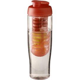H2O Tempo® 700 ml sportfles en infuser met flipcapdeksel Transparant,Oranje