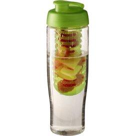 H2O Tempo® 700 ml sportfles en infuser met flipcapdeksel Transparant,Lime
