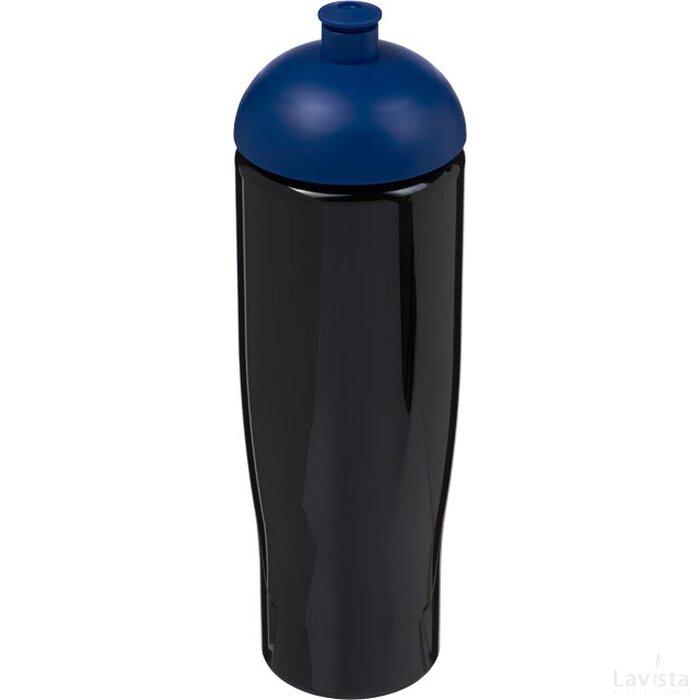 H2O Tempo® 700 ml bidon met koepeldeksel Zwart,blauw