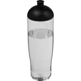 H2O Tempo® 700 ml bidon met koepeldeksel Transparant,Zwart