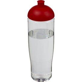 H2O Tempo® 700 ml bidon met koepeldeksel Transparant,Rood
