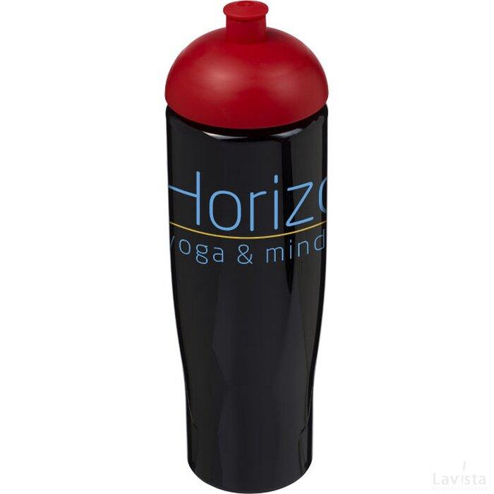 H2O Tempo® 700 ml bidon met koepeldeksel Zwart,Rood