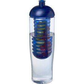 H2O Tempo® 700 ml bidon en infuser met koepeldeksel Transparant,blauw