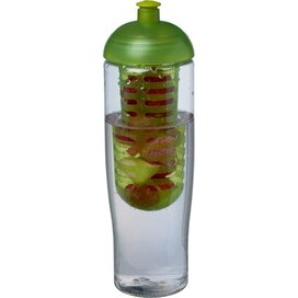 H2O Tempo® 700 ml bidon en infuser met koepeldeksel Transparant,Lime