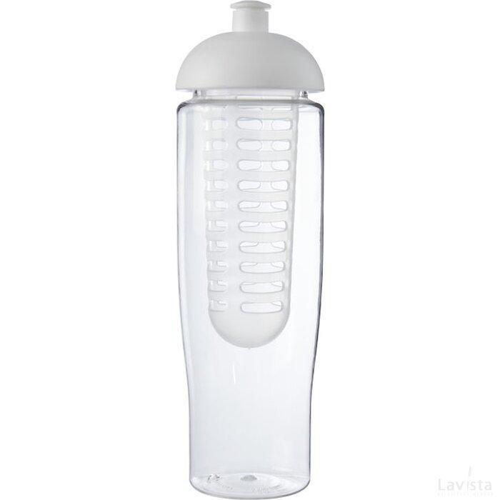 H2O Tempo® 700 ml bidon en infuser met koepeldeksel Transparant,Wit