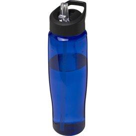 H2O Tempo® 700 ml sportfles met fliptuitdeksel blauw,Zwart