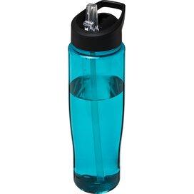 H2O Tempo® 700 ml sportfles met fliptuitdeksel aqua blauw,Zwart