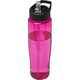 H2O Tempo® 700 ml sportfles met fliptuitdeksel Roze,Zwart