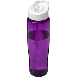 H2O Tempo® 700 ml sportfles met fliptuitdeksel Paars,Wit