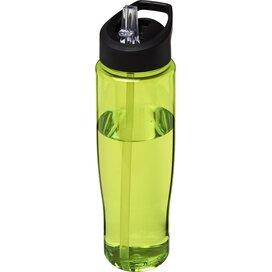 H2O Tempo® 700 ml sportfles met fliptuitdeksel Lime,Zwart