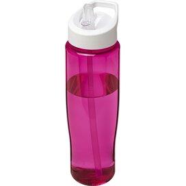 H2O Tempo® 700 ml sportfles met fliptuitdeksel Roze,Wit