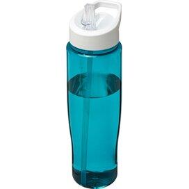 H2O Tempo® 700 ml sportfles met fliptuitdeksel aqua blauw,Wit