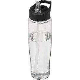 H2O Tempo® 700 ml sportfles met fliptuitdeksel Transparant,Zwart