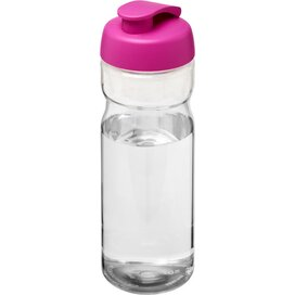 H2O Base® 650 ml sportfles met flipcapdeksel Transparant,Roze
