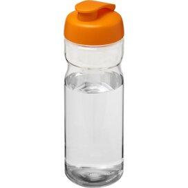 H2O Base® 650 ml sportfles met flipcapdeksel Transparant,Oranje