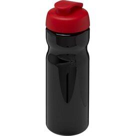 H2O Base® 650 ml sportfles met flipcapdeksel Zwart,Rood