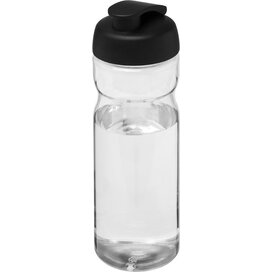 H2O Base® 650 ml sportfles met flipcapdeksel Transparant,Zwart