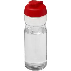 H2O Base® 650 ml sportfles met flipcapdeksel Transparant,Rood