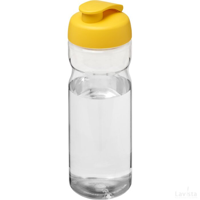 H2O Base® 650 ml sportfles met flipcapdeksel Transparant,geel