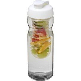H2O Base® 650 ml sportfles en infuser met flipcapdeksel Transparant,Wit