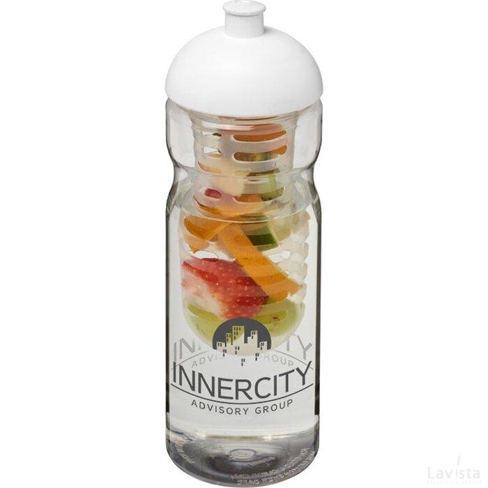 H2O Base® 650 ml bidon en infuser met koepeldeksel Transparant,Wit