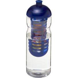 H2O Base® 650 ml bidon en infuser met koepeldeksel Transparant,blauw