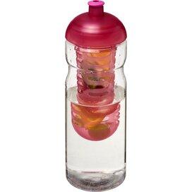 H2O Base® 650 ml bidon en infuser met koepeldeksel Transparant,Roze