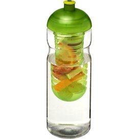 H2O Base® 650 ml bidon en infuser met koepeldeksel Transparant,Lime