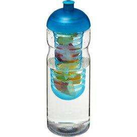 H2O Base® 650 ml bidon en infuser met koepeldeksel Transparant,aqua blauw