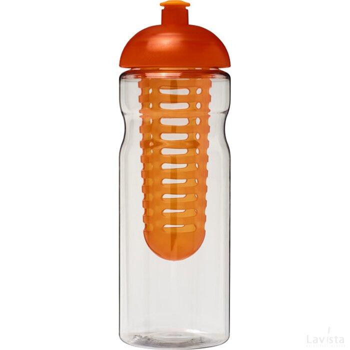 H2O Base® 650 ml bidon en infuser met koepeldeksel Transparant,Oranje