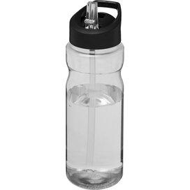H2O Base® 650 ml bidon met fliptuitdeksel Transparant,Zwart