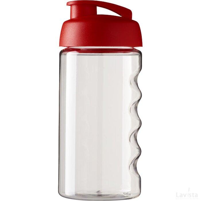 H2O Bop® 500 ml sportfles met flipcapdeksel Transparant,Rood