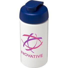 H2O Bop® 500 ml sportfles met flipcapdeksel Wit,blauw