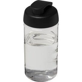 H2O Bop® 500 ml sportfles met flipcapdeksel Transparant,Zwart