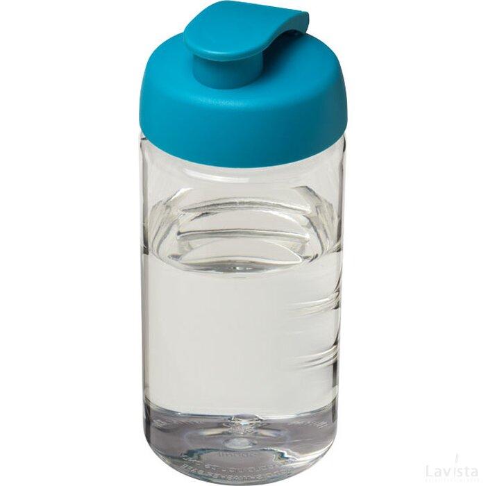 H2O Bop® 500 ml sportfles met flipcapdeksel Transparant,aqua blauw