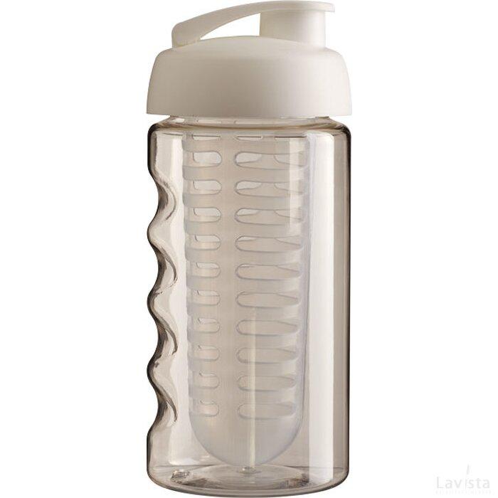 H2O Bop® 500 ml sportfles en infuser met flipcapdeksel Transparant,Wit