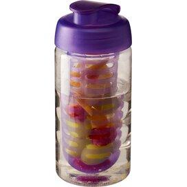 H2O Bop® 500 ml sportfles en infuser met flipcapdeksel Transparant,Paars