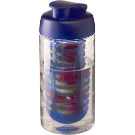 H2O Bop® 500 ml sportfles en infuser met flipcapdeksel Transparant,blauw