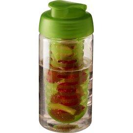 H2O Bop® 500 ml sportfles en infuser met flipcapdeksel Transparant,Lime