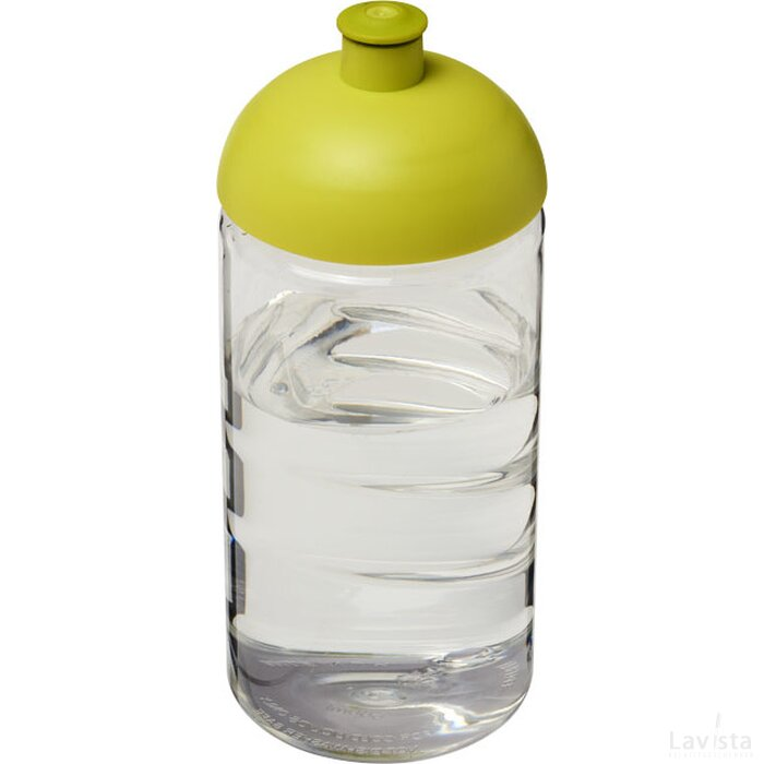 H2O Bop® 500 ml bidon met koepeldeksel Transparant,Lime