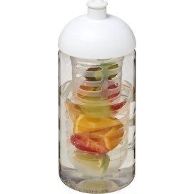 H2O Bop® 500 ml bidon en infuser met koepeldeksel Transparant,Wit