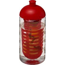 H2O Bop® 500 ml bidon en infuser met koepeldeksel Transparant,Rood