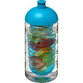 H2O Bop® 500 ml bidon en infuser met koepeldeksel Transparant,aqua blauw