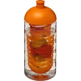 H2O Bop® 500 ml bidon en infuser met koepeldeksel Transparant,Oranje