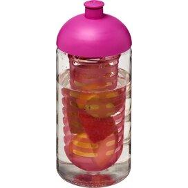 H2O Bop® 500 ml bidon en infuser met koepeldeksel Transparant,Roze
