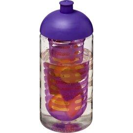 H2O Bop® 500 ml bidon en infuser met koepeldeksel Transparant,Paars